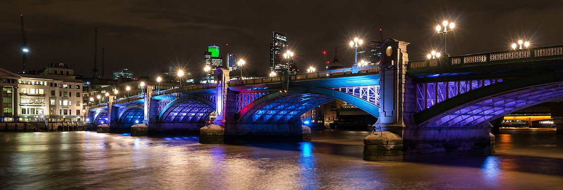 London, Southwark Bridge, England